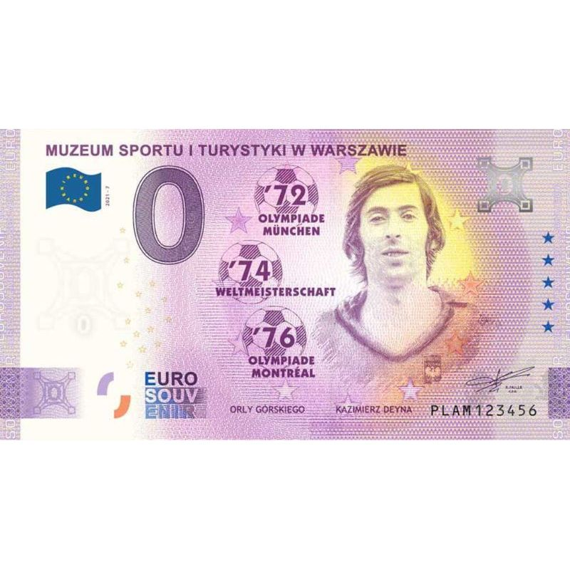 0 euro Górski's Eagles, Kazimierz Deyna Banknote
