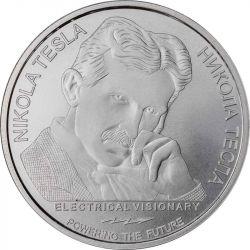 100 Dinarów Nikola Tesla, Wolna Energia 1 oz Ag 999 2021