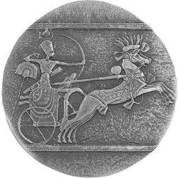 3000 Francs Rydwan Wojny - Egipskie Relikwie 5 oz Ag 999 2021 Czad