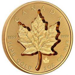 200$ Super Incuse Maple Leaf 2 oz Au 999 2021 Canada