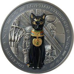 20$ Bastet - Egipskie Symbole II 3 oz Ag 999 2021 Palau