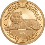 1000 Togrog Year of the Tiger 0,5 g Au 999 2022 Mongolia