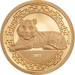 1000 Togrog Rok Tygrysa 0,5 g Au 999 2022 Mongolia
