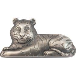 1000 Togrog Charming Silver Tiger 1 oz Ag 999 2022 Mongolia
