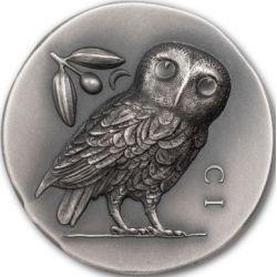 5$ Sowa Ateńska 1 oz Ag 999 2021 Wyspy Cooka