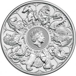 5£ The Queen's Beasts 2 oz Ag 999 2021 Great Britain