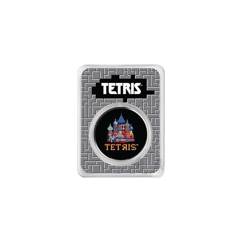 2$ Tetris, St. Basil's Cathedral  Colorized 1 oz Ag 999 2021 Niue
