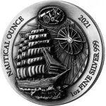 50 Franków Sedov - Nautical Ounce, oksydowana 1 oz Ag 999 2021 Rwanda