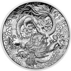 2$ Dragon - Chinese Myths and Legends 2 oz Ag 999 2021 Australia