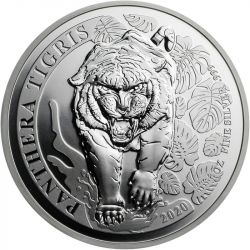 500 KIP Tygrys Azjatycki 1 oz Ag 999 2020 Laos