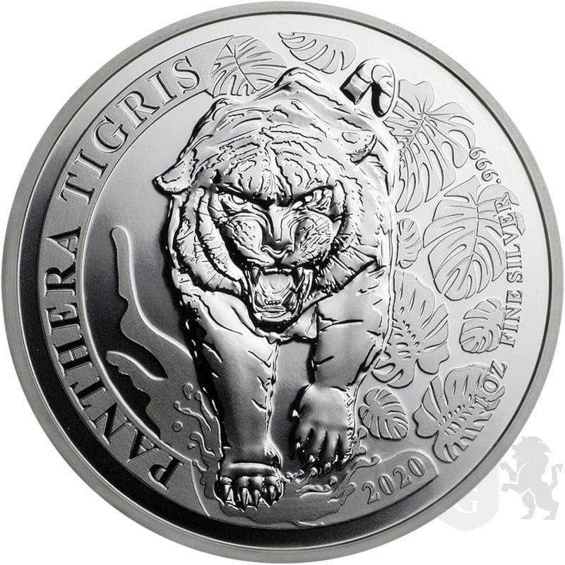 500 KIP Tiger Panthera Tigris 1 oz Ag 999 2020 Laos