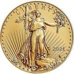 50$ American Eagle 1 oz Au 916 2021 Type 2 USA