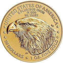 50$ Amerykański Orzeł 1 oz Au 916 2021 Typ 2 USA