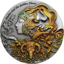 2$ Medea, Golden Fleece - Myths of Love 2 oz Ag 999 2021 Niue