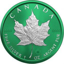 5$ Liść Klonowy - Space Green 1 oz Ag 999 2021 Kanada