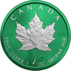 5$ Maple Leaf - Space Green