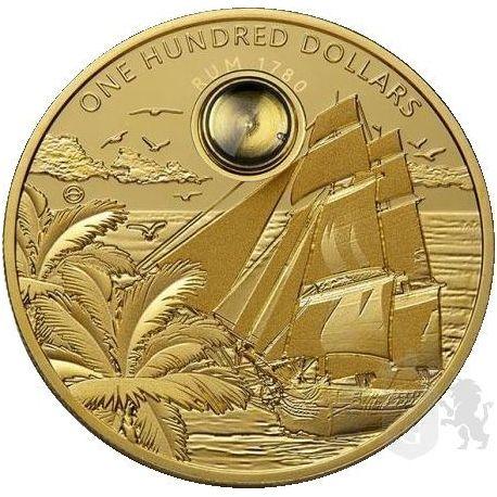 100$ Rum Harewood 1780 2 oz Au 999 2018 Barbados