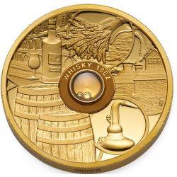 50$ Whisky  Old Vatted Glenlivet 1862 2 oz Au 999 2018 Tuvalu