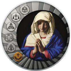 500 Franków Łaska Boża Jest Do Zbawienia Koniecznie Potrzebna - Główne Prawdy Wiary 17,5 g Ag 999 2020 Kamerun