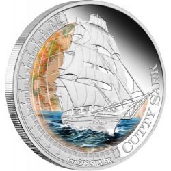 1$ Cutty Sark - Ships that Changed the World 1 oz Ag 999 Tuvalu 2012