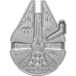 2$ Millennium Falcon, Starship - Star Wars 1 oz Ag 999 2021 Niue