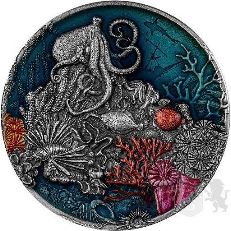 5$ Rafa Koralowa 2 oz Ag 999 2021 Niue