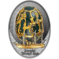 1$ Jajo Pamięci Azowa - Faberge 16,81 g Ag 999 2021 Niue