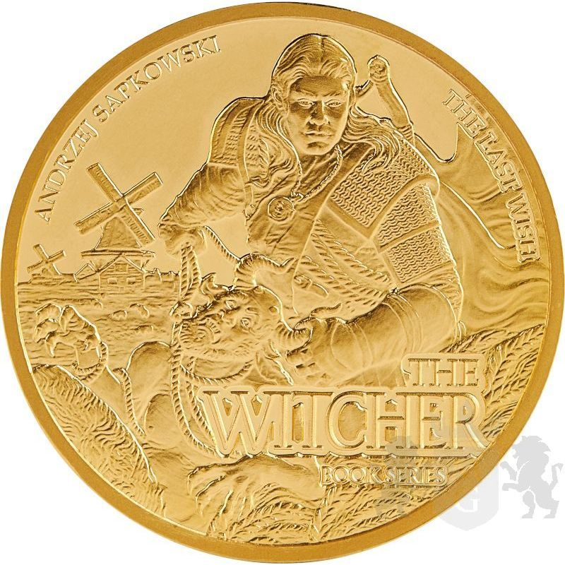 15$ The Last Wish - The Witcher Book Series 1/10 oz Au 9999 Niue 2021