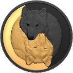 20$ Grey Wolf Black and Gold 2021 31,39g Ag 999