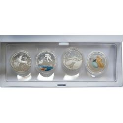 Space, set of 4 coins