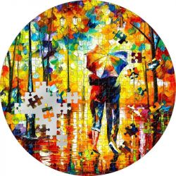 20$ Couple Under One Umbrella, Leonid Afremov - Micropuzzle 3 oz Ag 999 2022 Palau