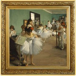 1$ Dance Class, Edgar Degas - Treasures of World Painting 1 oz Ag 999 2021 Niue