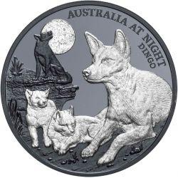 1$ Dingo - Australia at Night 1 oz Ag 999 2021 Niue