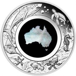1$ Wielki Południowy Ląd - Macica Perłowa 1 oz Ag 999 2021 Australia