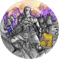 5$ Dian Wei - Wojownicy Starożytnych Chin 3 oz Ag 999 2021 Niue