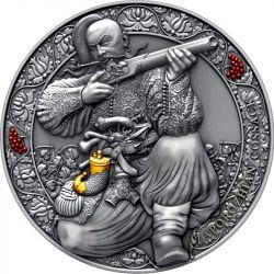 3000 Franków Zaporozhian Kozak - Legendarni Wojownicy 3 oz Ag 999 2021 Kamerun