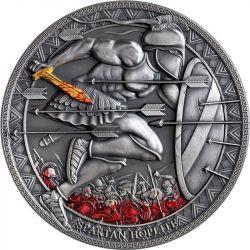 500 Franków Spartański Hoplita - Legendarni Wojownicy 1/2 oz Ag 999 2021 Kamerun