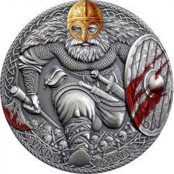 3000 Francs Viking Axeman - Legendary Warriors 3 oz Ag 999 2020 Cameroon
