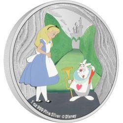 2$ Biały Królik - Alicja w Krainie Czarów 1 oz Ag 999 2021
