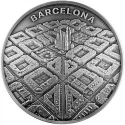 2000 Franków Barcelona Oczami Drona, 2 oz Ag 999, 2021