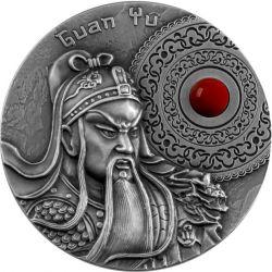 5$ Guan Yu i Wzór męstwa i Odwagi 2 oz Ag 999 2021 Niue