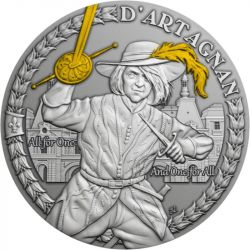 1$ D'Artagnan and The Musketeers 1 oz Ag 999 2021 Niue