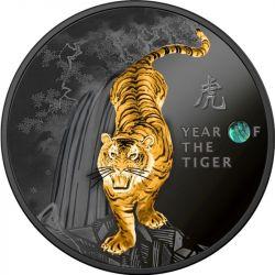 500 Franków Rok Tygrysa - Kalendarz Chiński 14,14g Ag 999 2021 Kamerun
