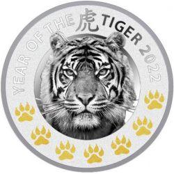 1$ Rok Tygrysa - Chińskie Kalendarze 2022 17,50 g Ag 999 Niue