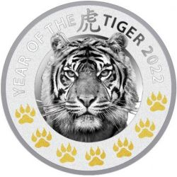 1$ Year of the Tiger - Chinese Calendars 2022 17,50 g Ag 999 Niue