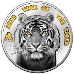 1$ Rok Tygrysa 2022, Blister 10 g Ag 999 Niue