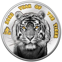 1$ Year of the Tiger 2022, Blister 10 g Ag 999 Niue