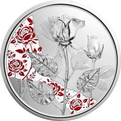 10 Euro Róża, Miłość i Pożądanie - Mowa Kwiatów 1/2 oz Ag 999 2021 Austria