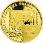 200zł 450 years of the Polish Postal Service 2008 15,50 g Au 900