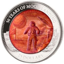25$ Moon Landing 50th Anniversary - Mother of Pearl